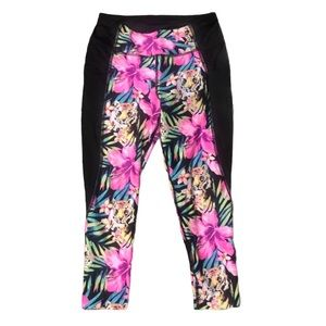 Avia Tropical print Sport leggings size M …